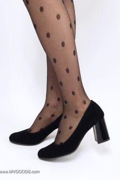 Klasikiniai juodi aukštakulniai Black Pumps verstos odos heels