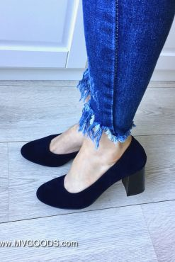 Klasikiniai mėlyni aukštakulniai blue heels verstos odos imitacijos