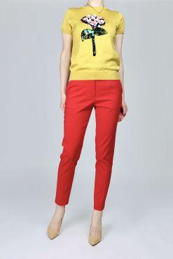 Klasikinės kelnės RED RENTEX 7/8 ilgio raudonos classic trouser
