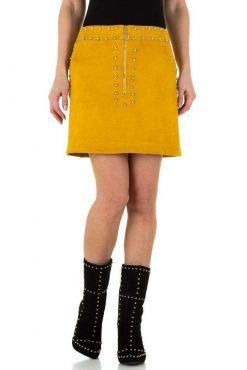 Stilingas sijonas Mustard yellow Liza