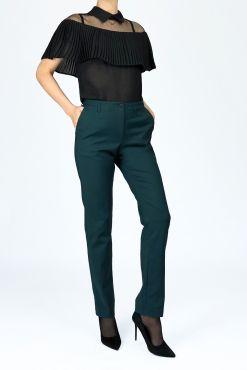 Klasikinės kelnės Green Classic zalios klasikines kelnes trouser office kelnes pants classic