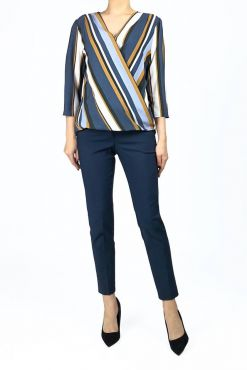 Klasikinės kelnės Dark Blue Classic 7/8 classic trouser pants