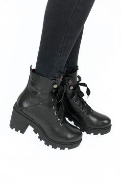 buty Aukštakulniai odiniai aulinukai KARINO Strong BLACK karino heels batai avalyne zieminiai vilna juodi aulinukai KARINO aulinukai boots warm shoes aukstakulniai