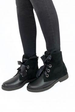 Šilti odiniai aulinukai su vilna MOLI 37-41 warm leather shoes black boots zieminiai aulinukai silti batai ziemos sezono