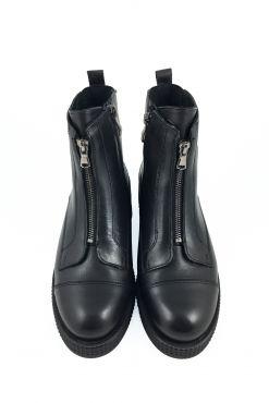 Odiniai aulinukai su vilna KARINO BLACK leather