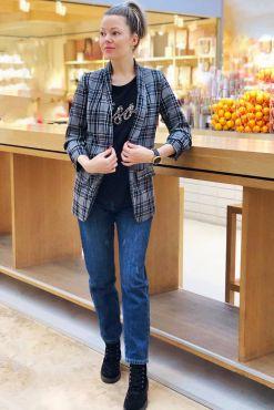 checkered material клетчатый пиджак jacket languotas svarkelis pilkas melynas nikko goodlook.shop
