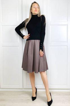 Dirbtinės odos sijonas DONA CACAO skirt .faux leather goodlook.shop