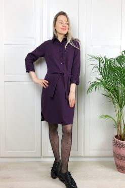 Marškinėlių tipo suknelė STELLA violet dress