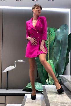 Švarkas suknelė su užtrauktuku MOLLI zipp multi jacket blazer dress