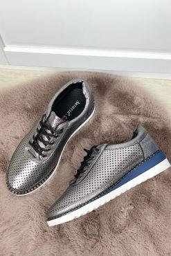 Bateliai su skylutėmis METALLIC HOLES shoes