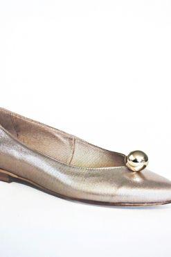 Odinės balerinos KARINO rose gold steel balerine ballerin