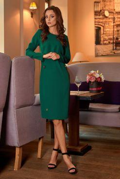 Klasikinė dalykinė suknelė CARLA green business work official dress suknele zalia