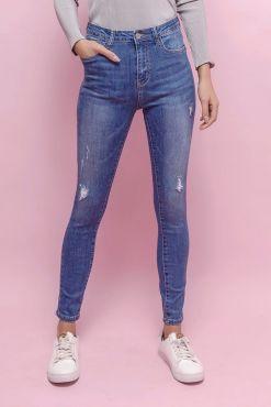 Šviesūs džinsai Goodies good light jeans ripping plesyti idreskimai melyni dzinsai