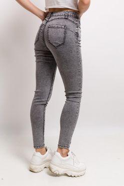 Šviesiai pilki džinsai PUSH-UP jeans denim grey sviesiai pilki