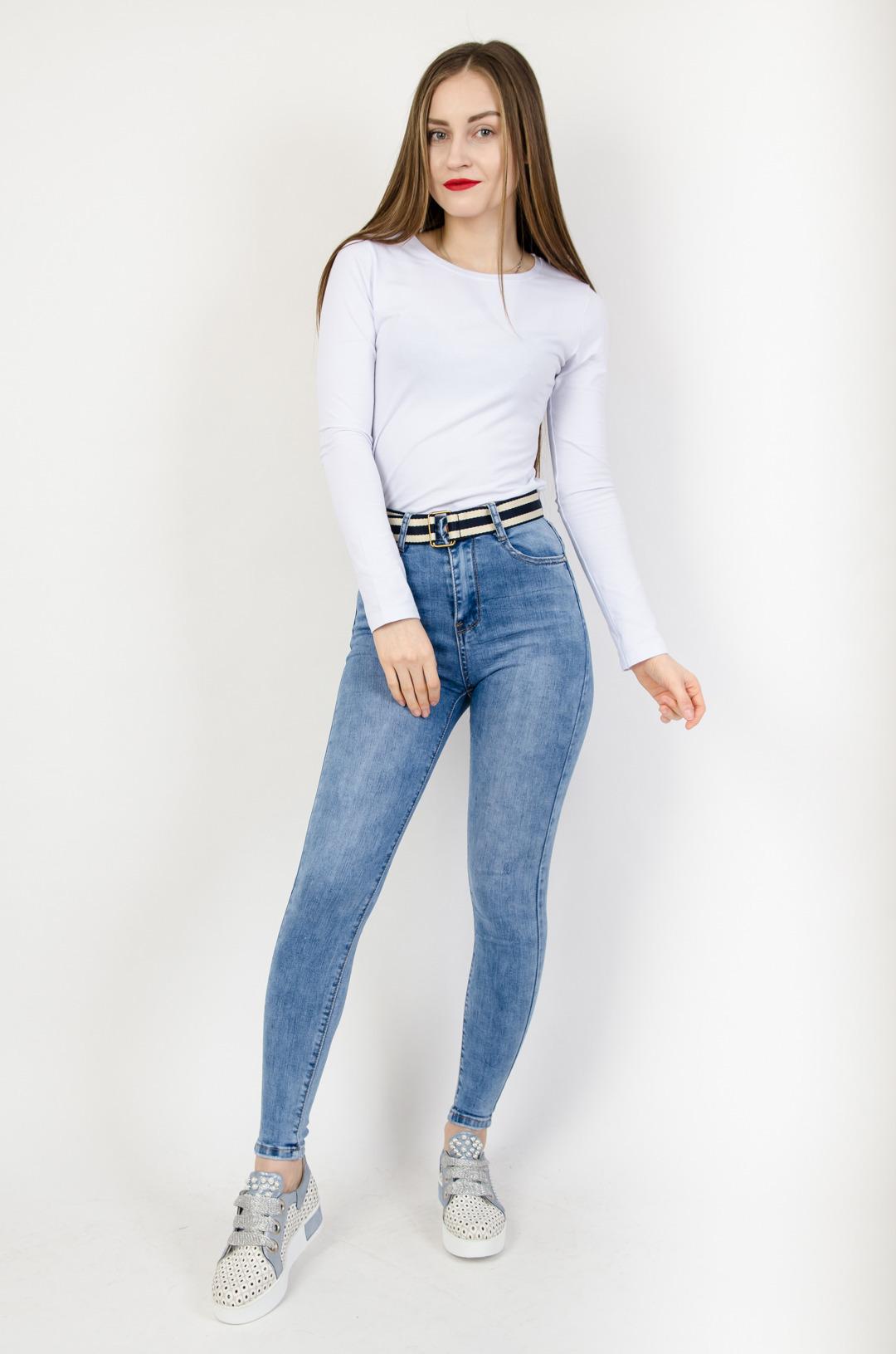 Šviesūs džinsai LAULIA light blue jeans