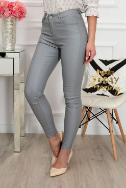 Odos imitacijos kelnės Goodies light grey pants