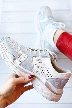 Odiniai laisvalaikio bateliai GOODIN WHITE leather balti shoes