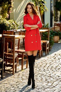 Mini suknelė švarkas LORA RED jacket dress raudona
