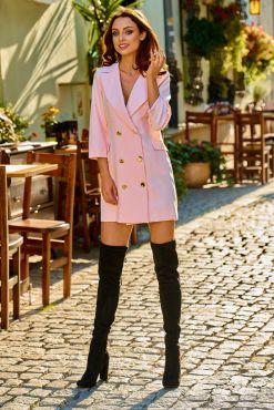 Mini suknelė švarkas LORA POUDRE jacket suit dress