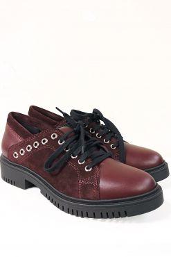 Odiniai laisvalaikio bateliai RIVET BORDO classic shoes leather