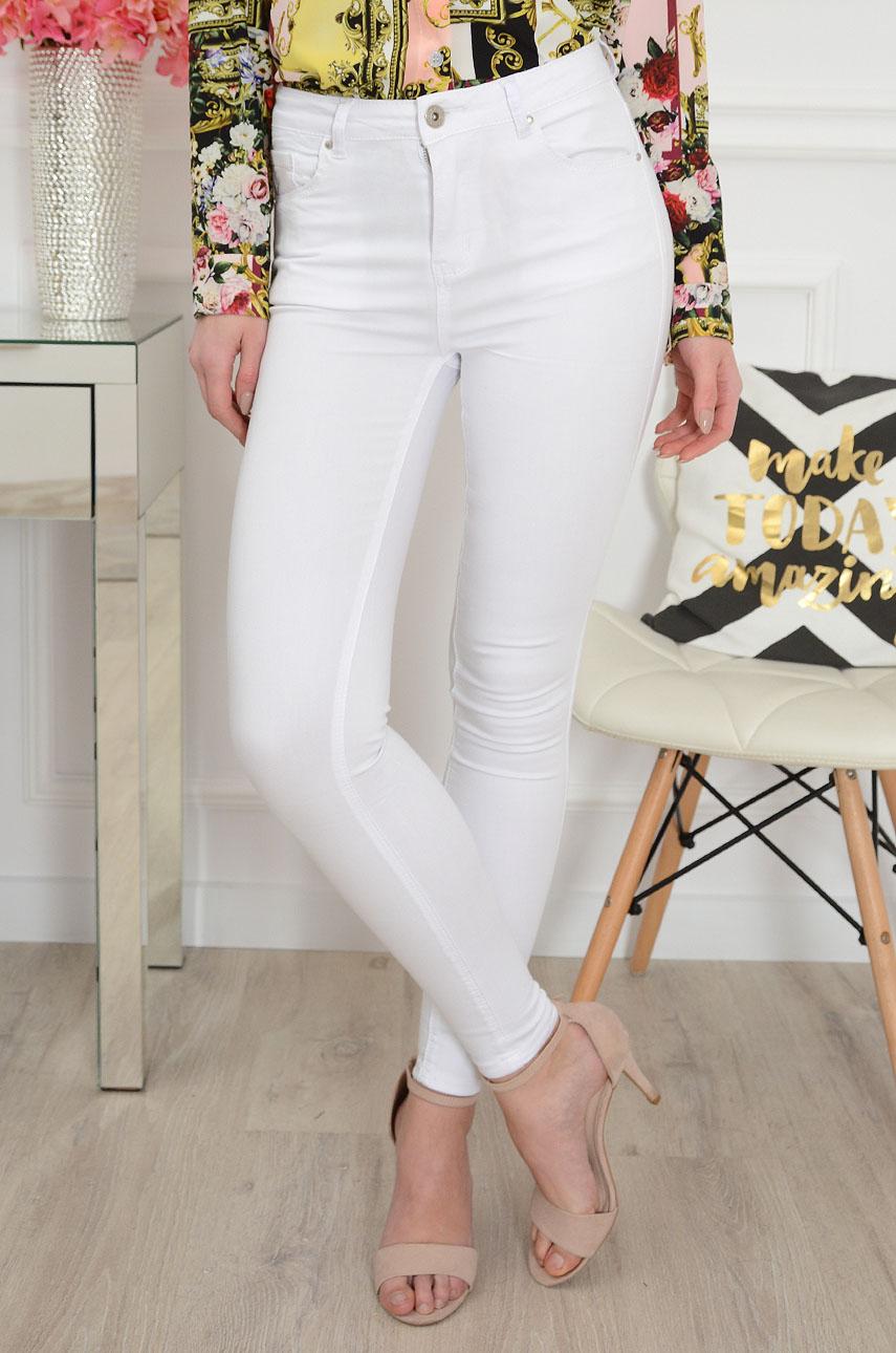 Balti klasikiniai džinsai WHITE CLASSIC jeans
