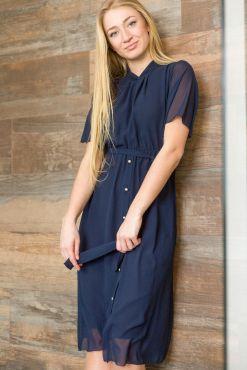 Klasikinė suknelė MOKO DARK BLUE S-XL classic melyna suknele dress