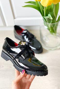 Lakuoti odiniai bateliai KARINO BEE shoes leather
