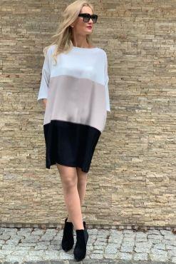 Laisvai krentančio tiesaus silueto suknelė MILANA dress tunic