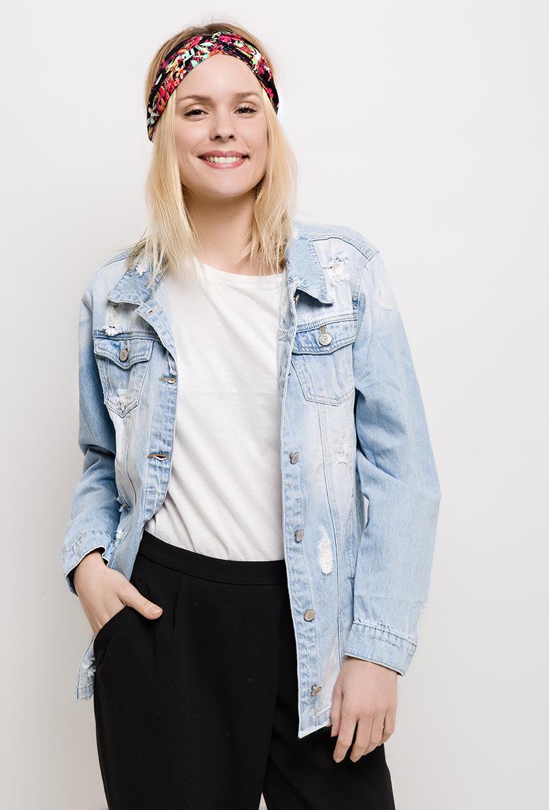 Klasikinis džinsinis švarkas oversize MISS DESTROY denim jeans jacket