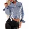 Džinsinis švarkelis su raišteliais CLASSIC LACE denim jeans jacket