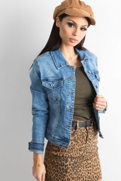 Klasikinis džinsinis švarkelis SHORT jeans classic jacket