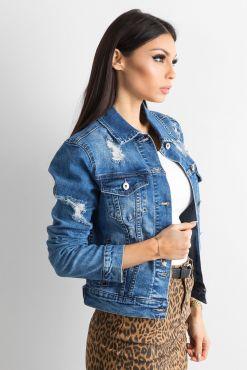 Džinsinis švarkelis su plėšymais ripping jeans jacket