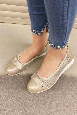 Laisvalaikio bateliai su skylutėmis COCO gold shoes leisure buty
