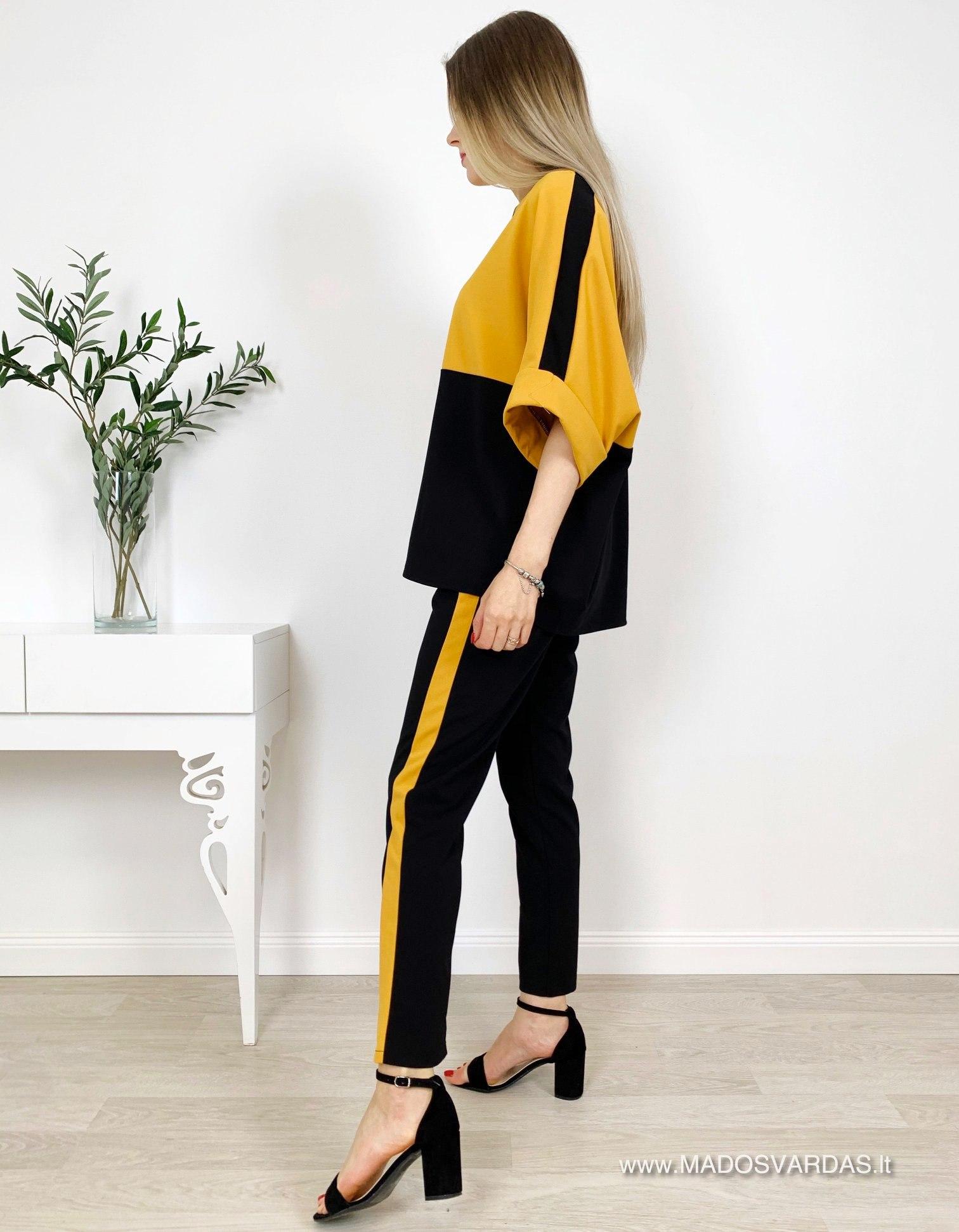 Dviejų spalvų laisvalaikio kostiumėlis KAPRICE Yellow |madosvardas.lt