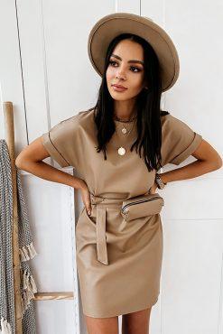 Stilinga odos imitacijos suknelė