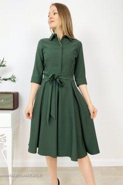 Stilinga klasikinė klostuota suknelė ADRIANA GREEN
