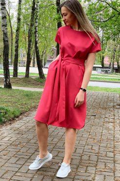 """Pusilgė lininio audinio suknelė """"LINA CORAL"""" madosvardas.lt"""