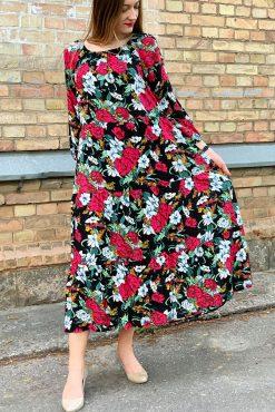 """Ilga lengva suknelė """"SASHA - PEONIES FLOWERS"""""""